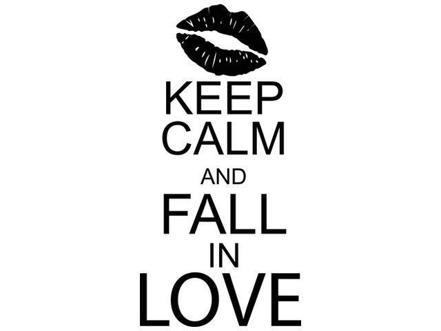 Nálepka na stenu Keep calm and fall in love 50x100cm NS2687A_1FZ