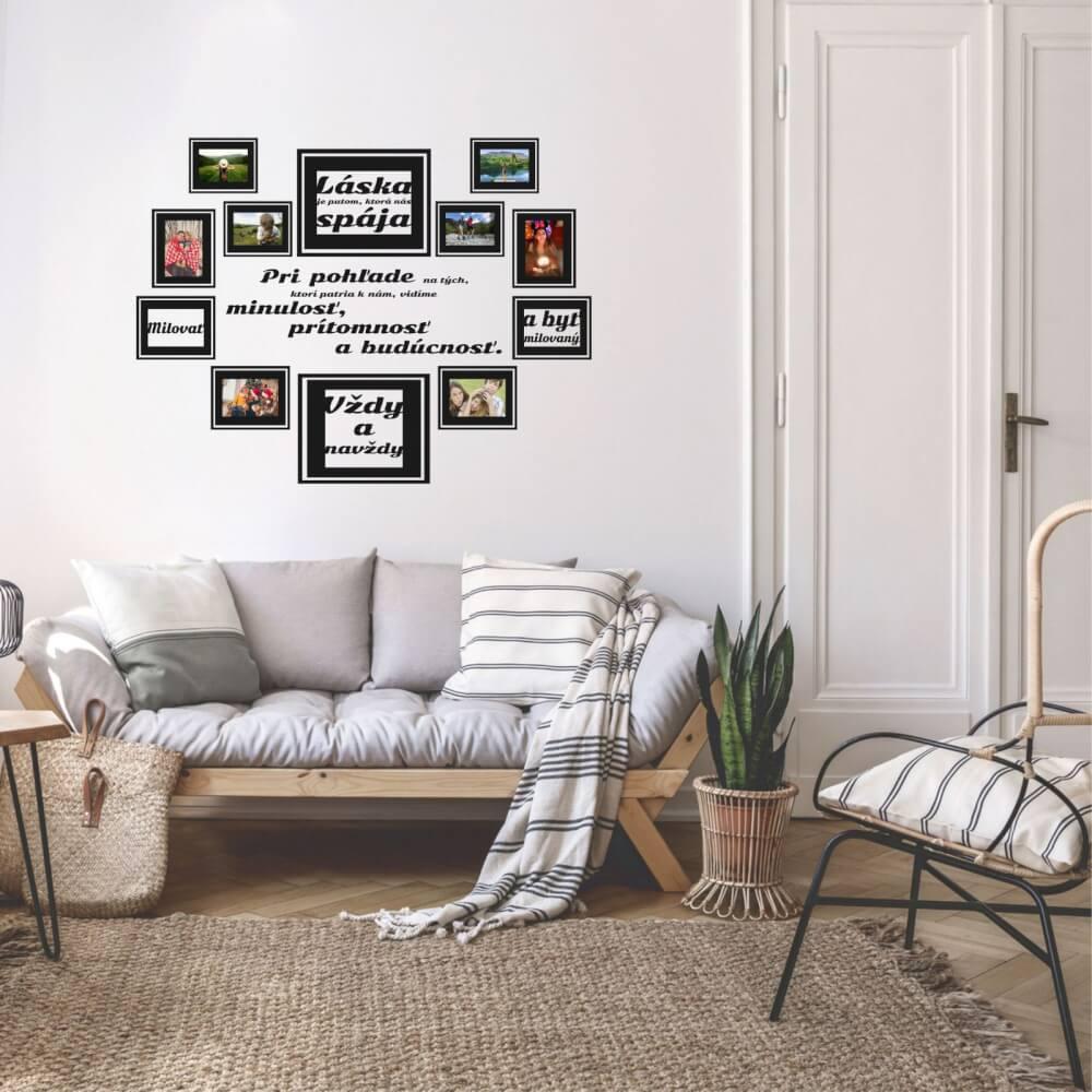 Nálepka na stenu - Láska s rámčekmi