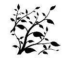 Nálepka na stenu - Rastlina s lístkami _tx66