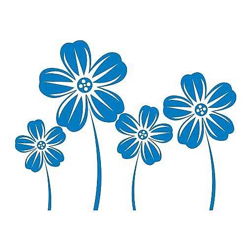 Nálepka na stenu Sada s kvetmi _fl5-88