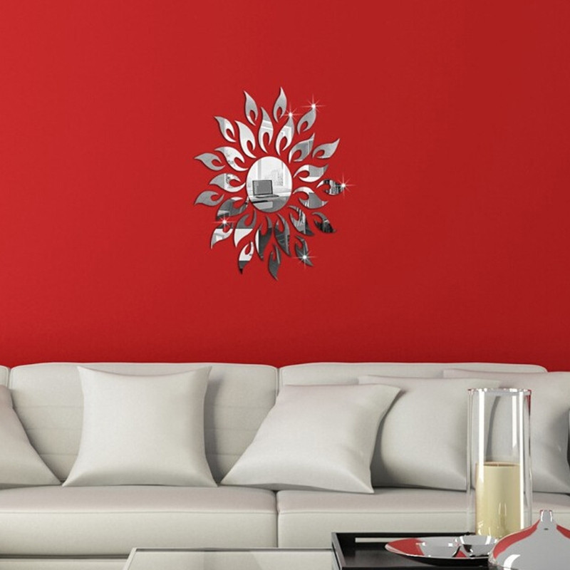 Nálepka na stenu, Slniečko zrkadlové 40-50 cm