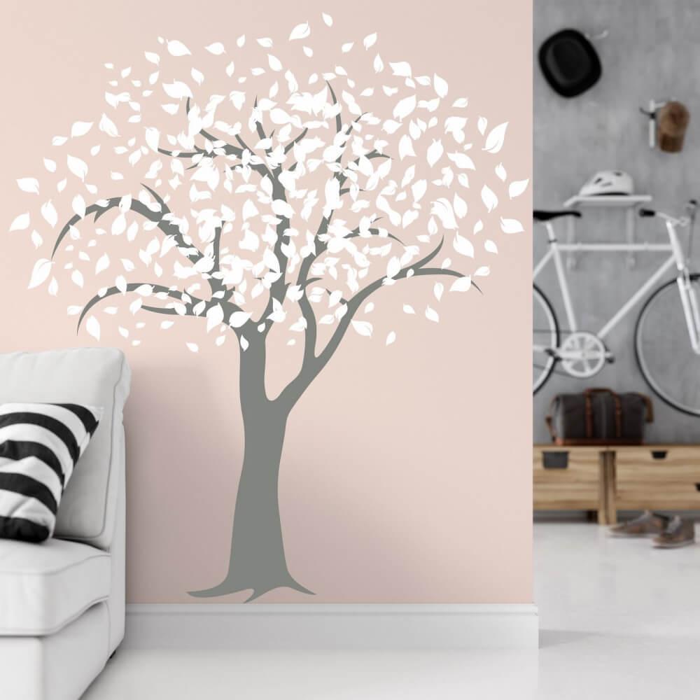 Nálepka na stenu - Strom s listami veľký