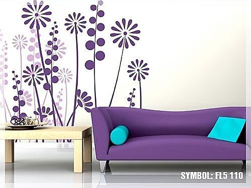 Nálepka na stenu Záhon kvetov _fl5-110