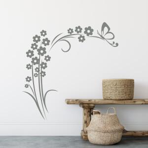 Nálepky na stenu - Motýľ na kvete