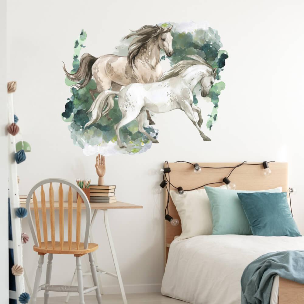 Nálepky na stenu pre teenegerov - Kone
