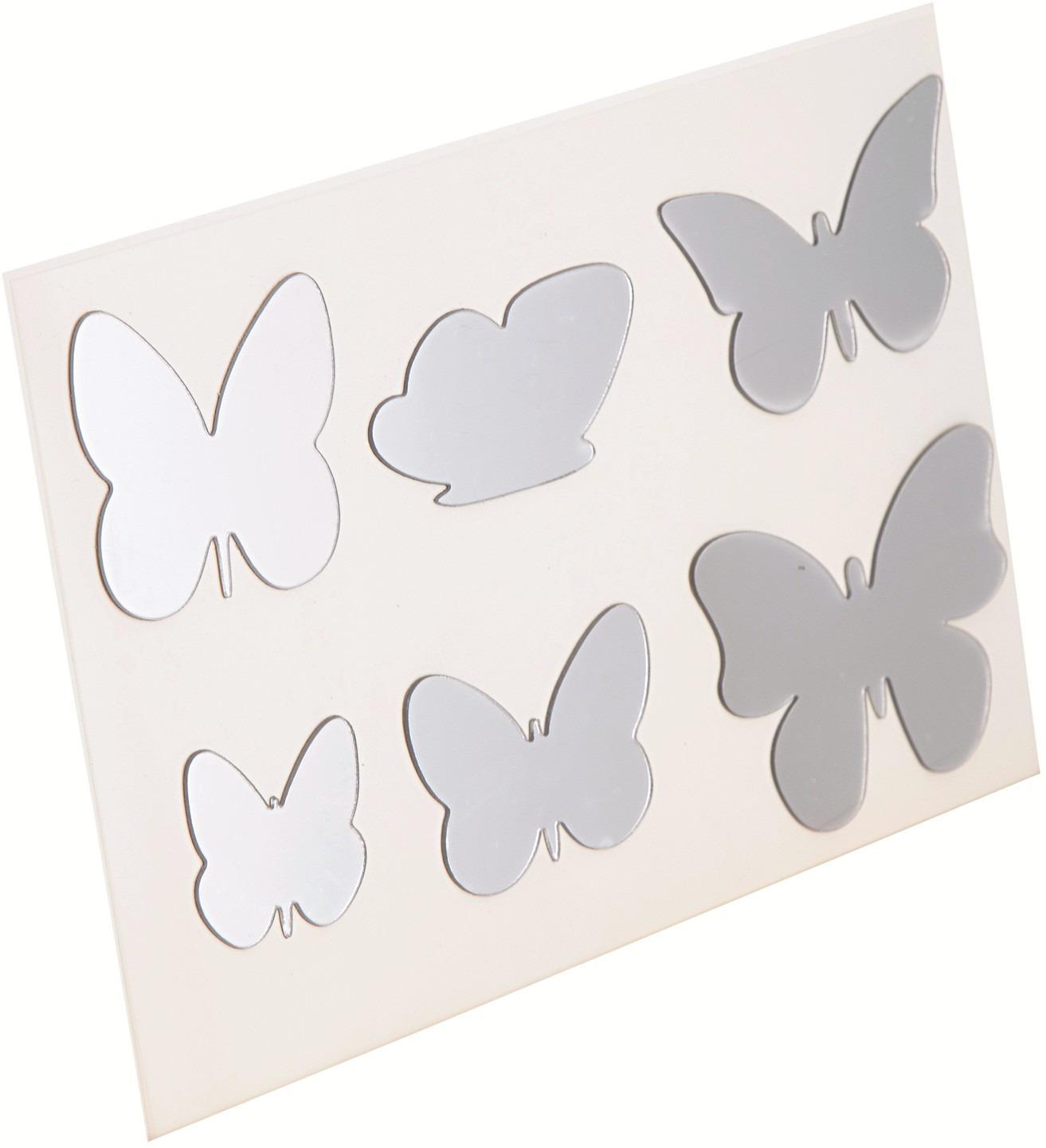 Nalepovacie zrkadlo Motýle, 6 ks