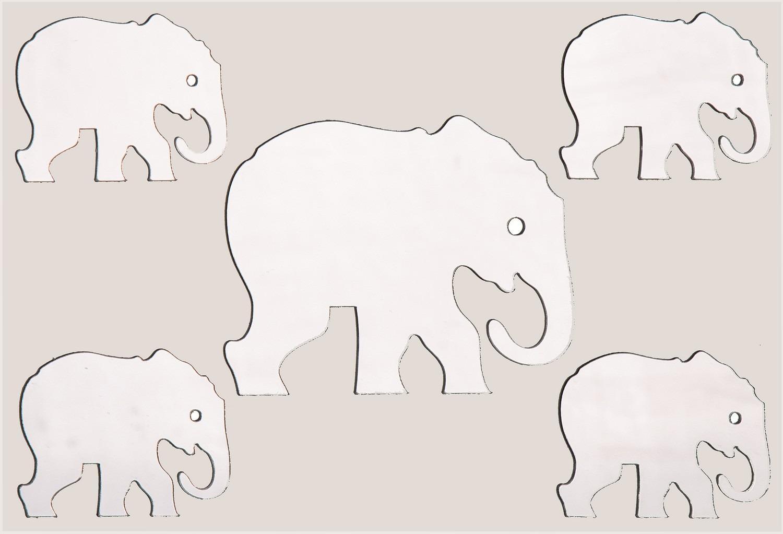 Nalepovacie zrkadlo Sloni, 5 ks
