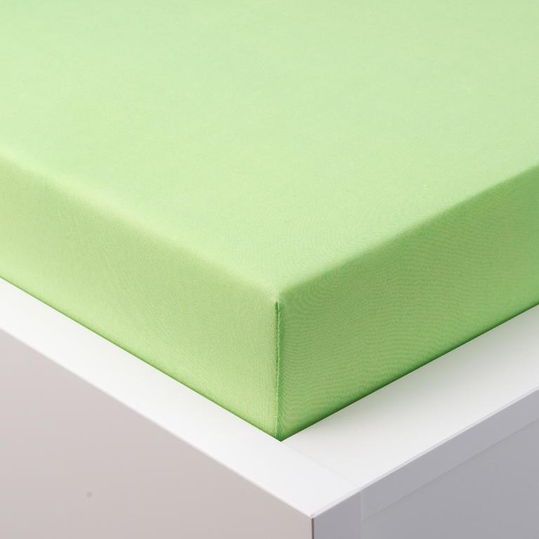 Napínacie prestieradlo jersey s elastanom zelené 90 x 200 cm