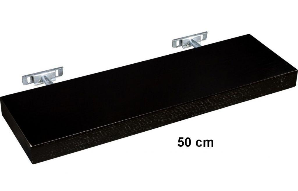 Nástenná polica STILISTA SALIENTO - hnedočierna 50 cm