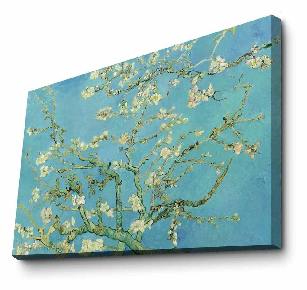 Nástenná reprodukcia na plátne Vincent Van Gogh Almond Blossom, 100 × 70 cm