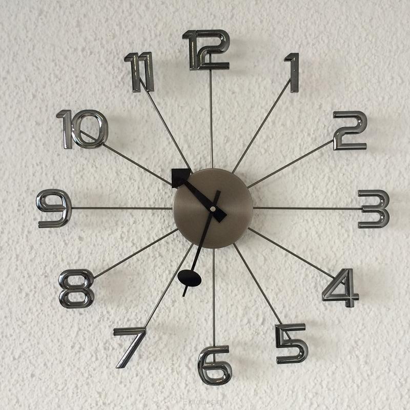 Nástenné hodiny Big Timer grafit ExitDesign 086NK, 50cm
