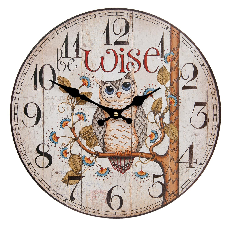 Nástenné hodiny Clayre & EEF, 6kl0369, 34cm