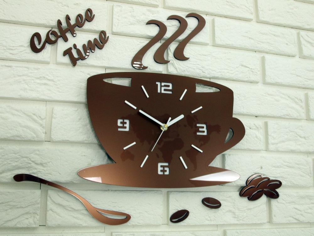 Nástenné hodiny Coffe medené