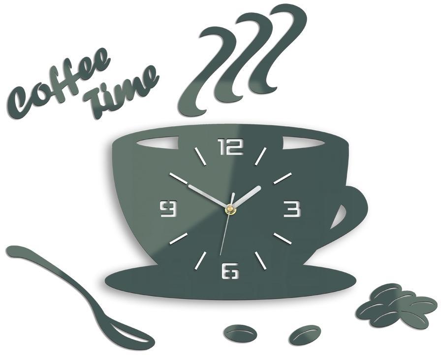 Nástenné hodiny Coffee šedé