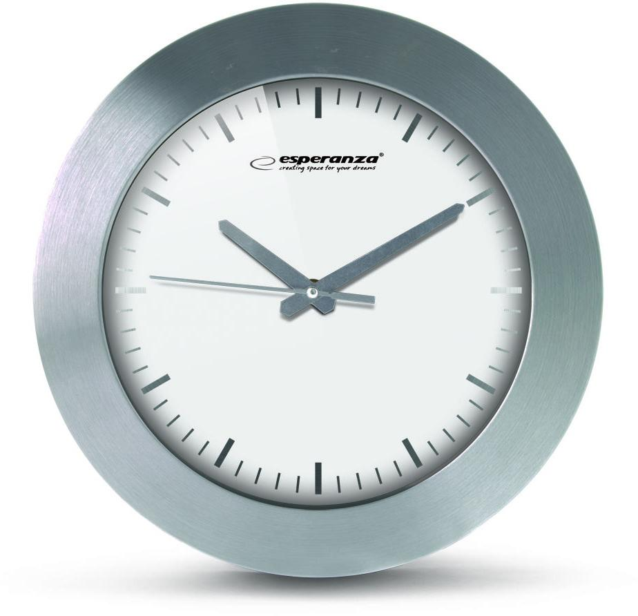 Nástenné hodiny ESPA HOU011W, biele 25cm