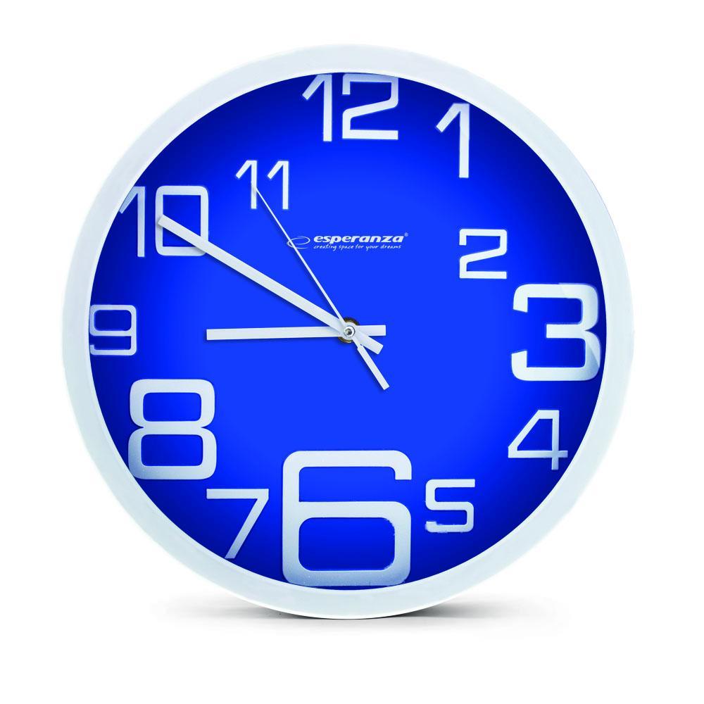 Nástenné hodiny ESPA MIL017B, modré 20cm