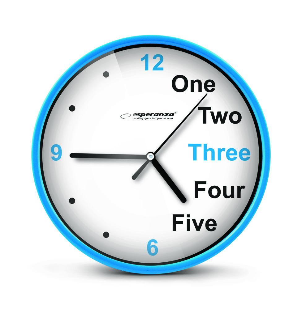 Nástenné hodiny ESPA PRA014B, modré 20cm
