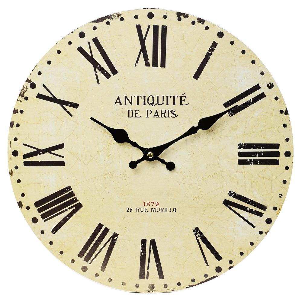 Nástenné hodiny, Flor0103, Antiquite de Paris, 34cm