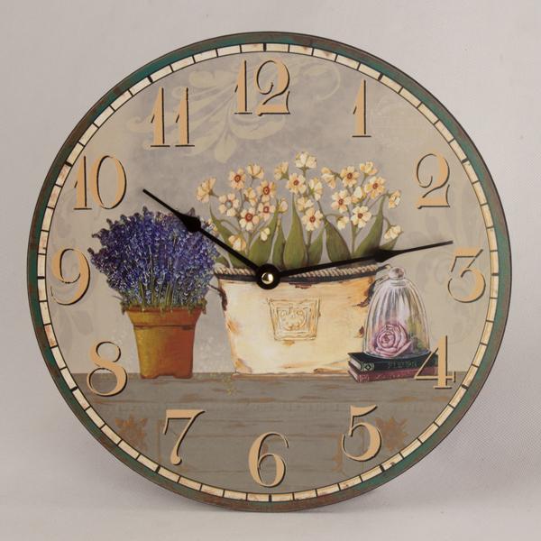Nástenné hodiny HLC, Kvety 0934, 30cm