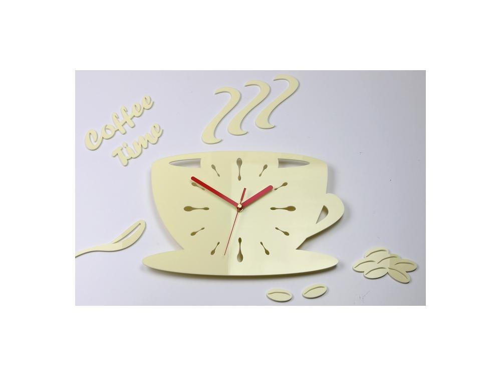 Nástenné hodiny Kaffé krémové