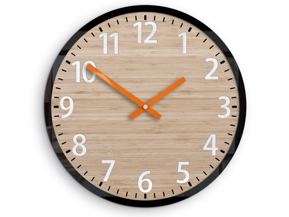 Nástenné hodiny Karina hnedé