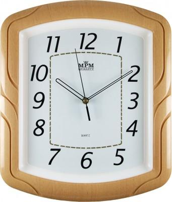 Nástenné hodiny MPM, 2417.60.SW - oranžová, 34cm