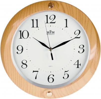 Nástenné hodiny MPM, 2441.60.SW - oranžová, 34cm