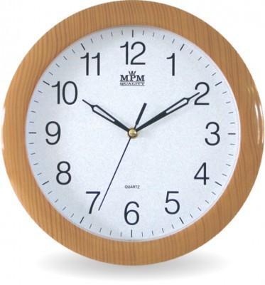 Nástenné hodiny MPM, 2455.60.SW - oranžová, 28cm