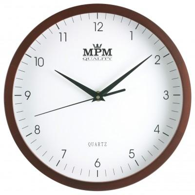 Nástenné hodiny MPM, 2472.52.W - hnedá tmavá, 25cm