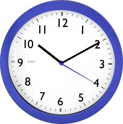Nástenné hodiny MPM, 2476.30.A - modrá, 28cm