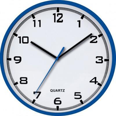 Nástenné hodiny MPM, 2479.30 - modrá, 30cm