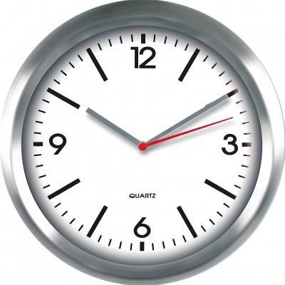 Nástenné hodiny MPM, 2484.7000 - strieborná/biela, 29cm