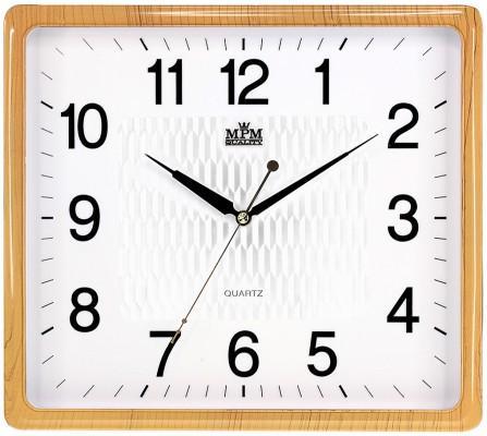 Nástenné hodiny MPM, 2929.6000.SW - oranžová/biela, 36cm