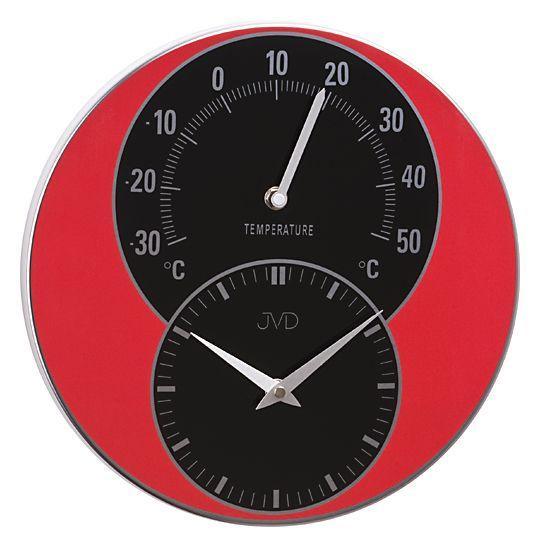 Nástenné hodiny s teplomerom JVD HW 35.1 30cm