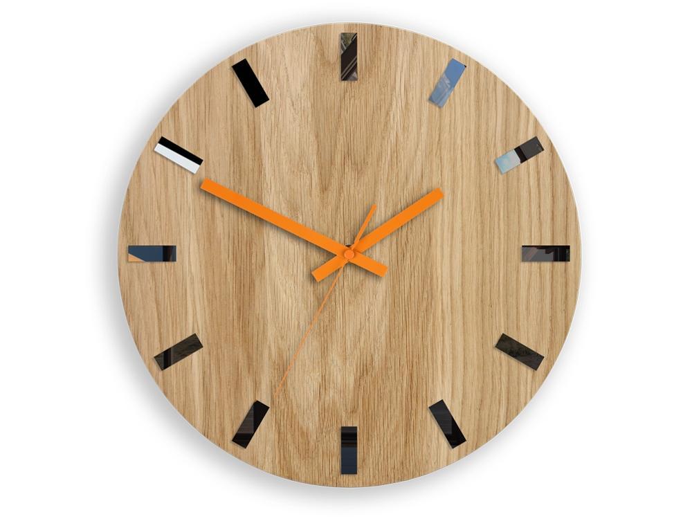Nástěnné hodiny Simple-Y hnědo-oranžové