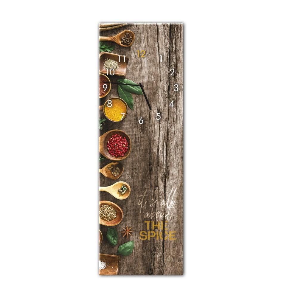Nástenné hodiny Styler Glassclock Spice, 20 × 60 cm