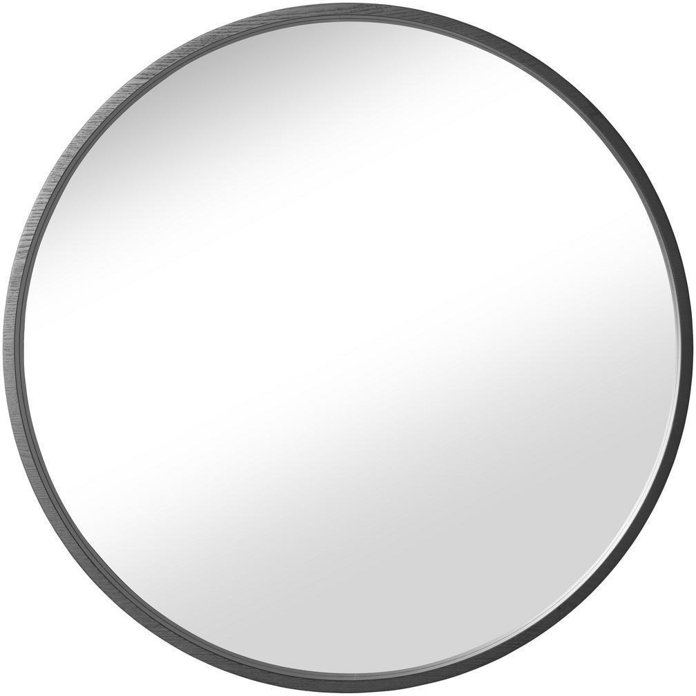 NÁSTENNÉ ZRKADLO, 80/80/3 cm - čierna