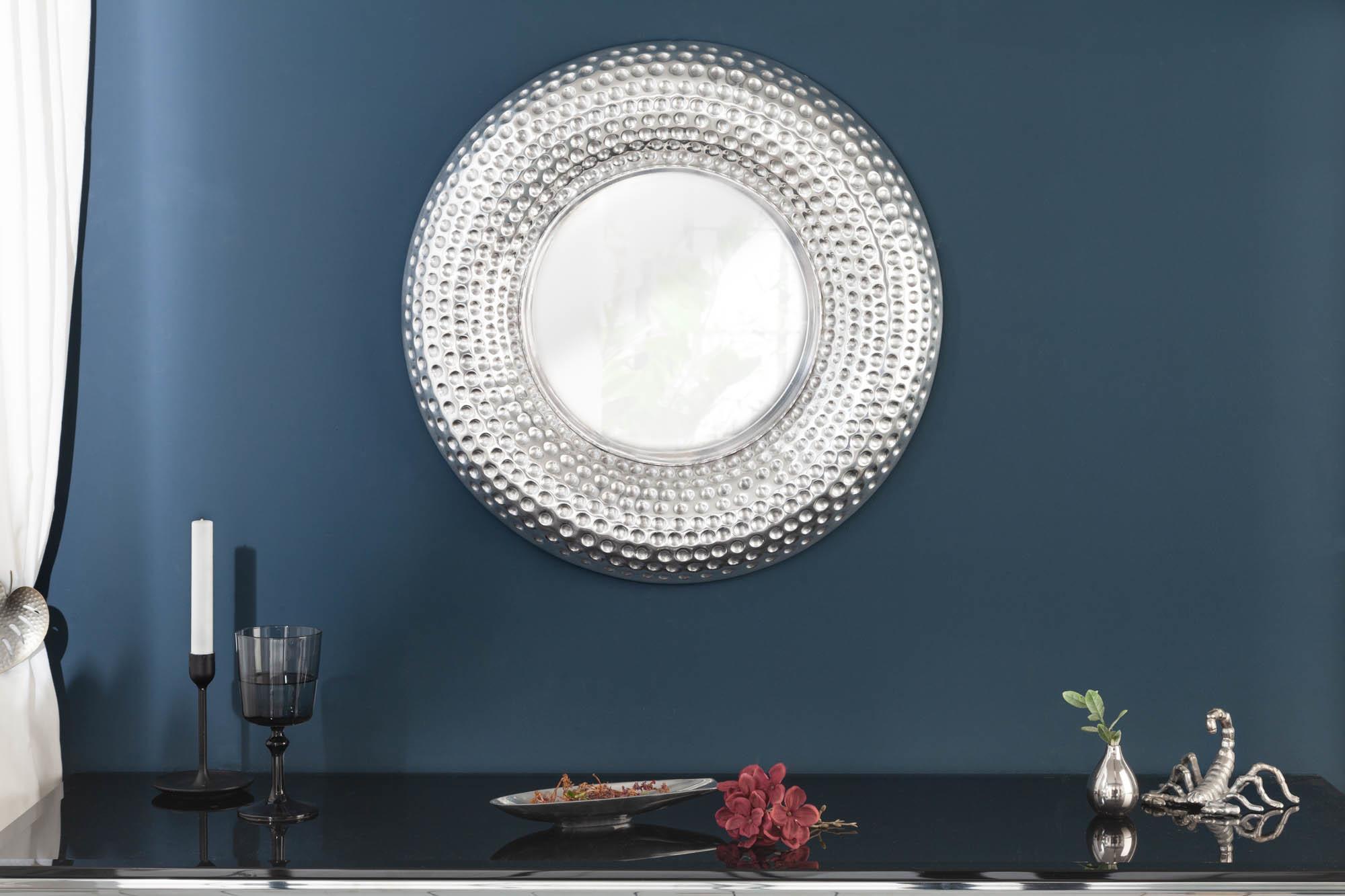 Nástenné zrkadlo Alijah 60 cm strieborné