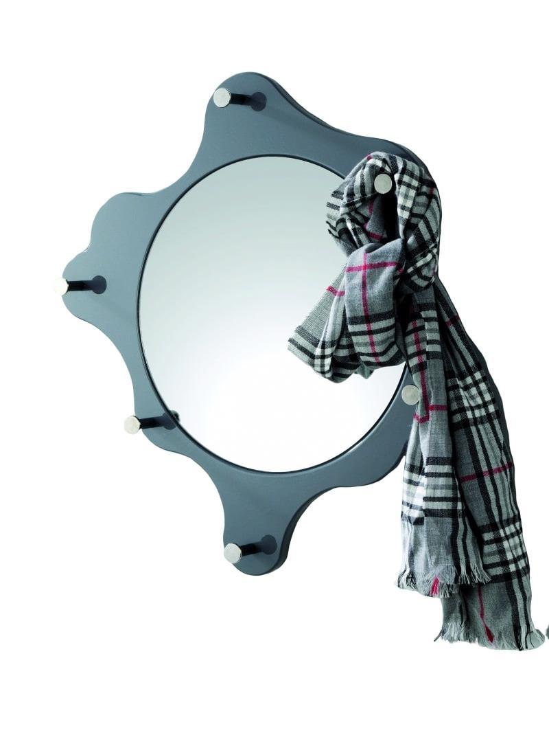 Nástenné zrkadlo Avenus, chróm/sivá