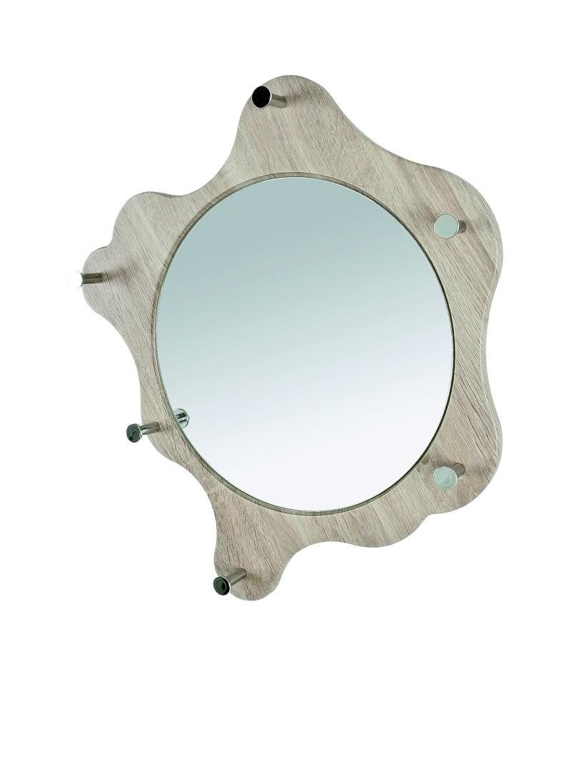Nástenné zrkadlo Avenus, dub/chróm