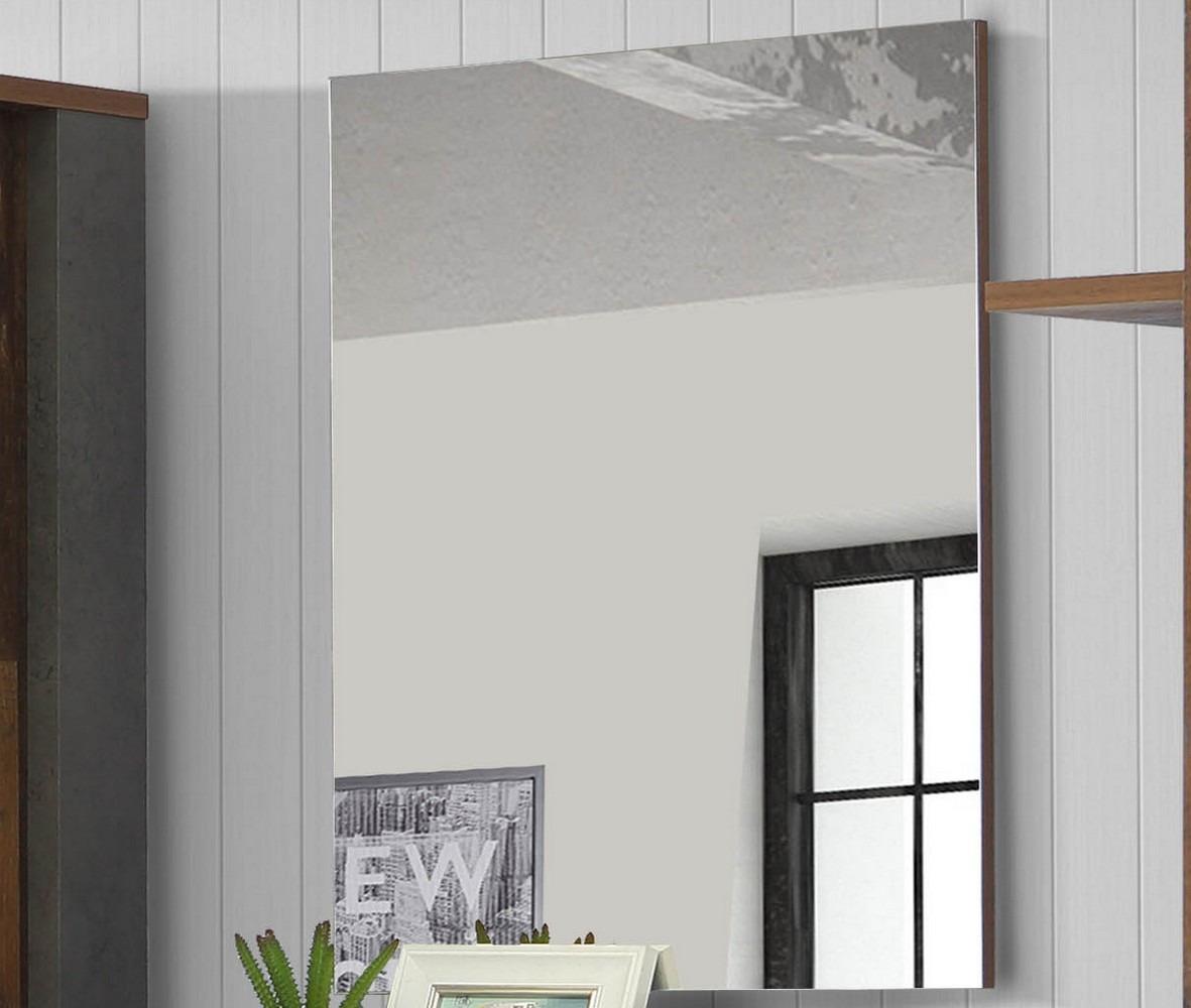 Nástenné zrkadlo Cliff 60x80 cm, vintage optika dreva