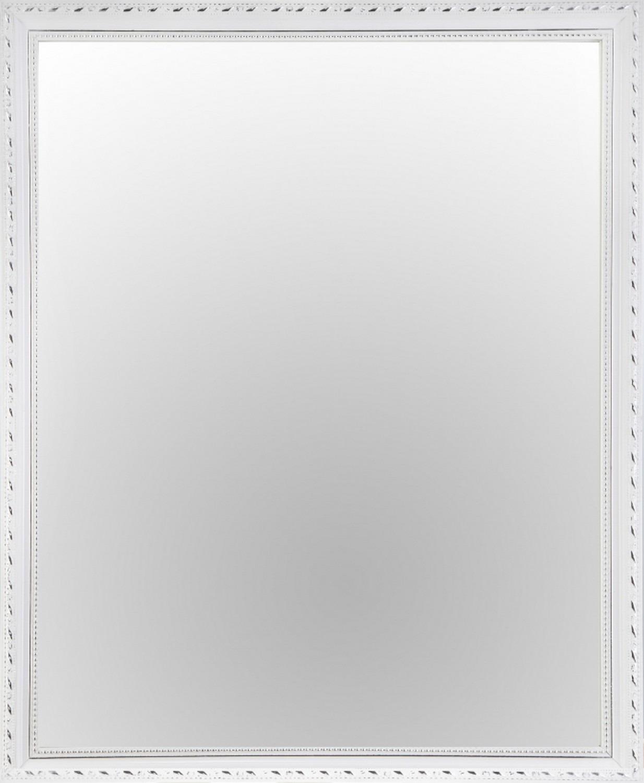 Nástenné zrkadlo Lisa 45x55 cm, biele, ornamenty