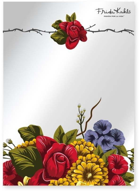 Nástenné zrkadlo Madre Selva Espejo Decorado Frida Bunch, 50 × 70 cm