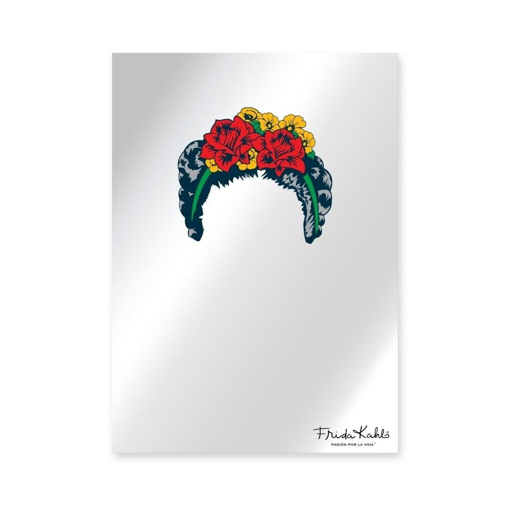 Nástenné zrkadlo Madre Selva Espejo Decorado Frida Hair, 50 × 70 cm