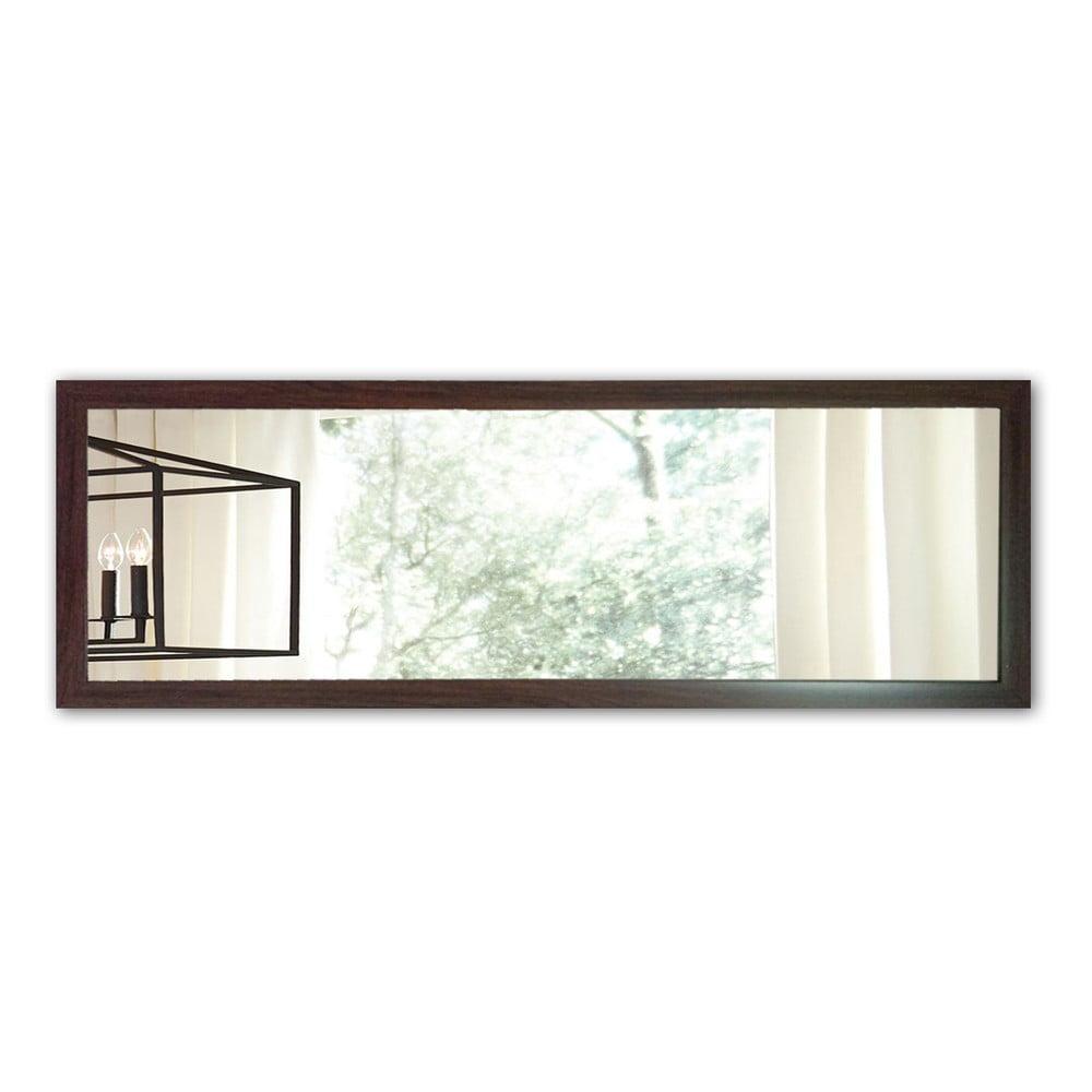 Nástenné zrkadlo s hnedým rámom Oyo Concept, 105 x 40 cm