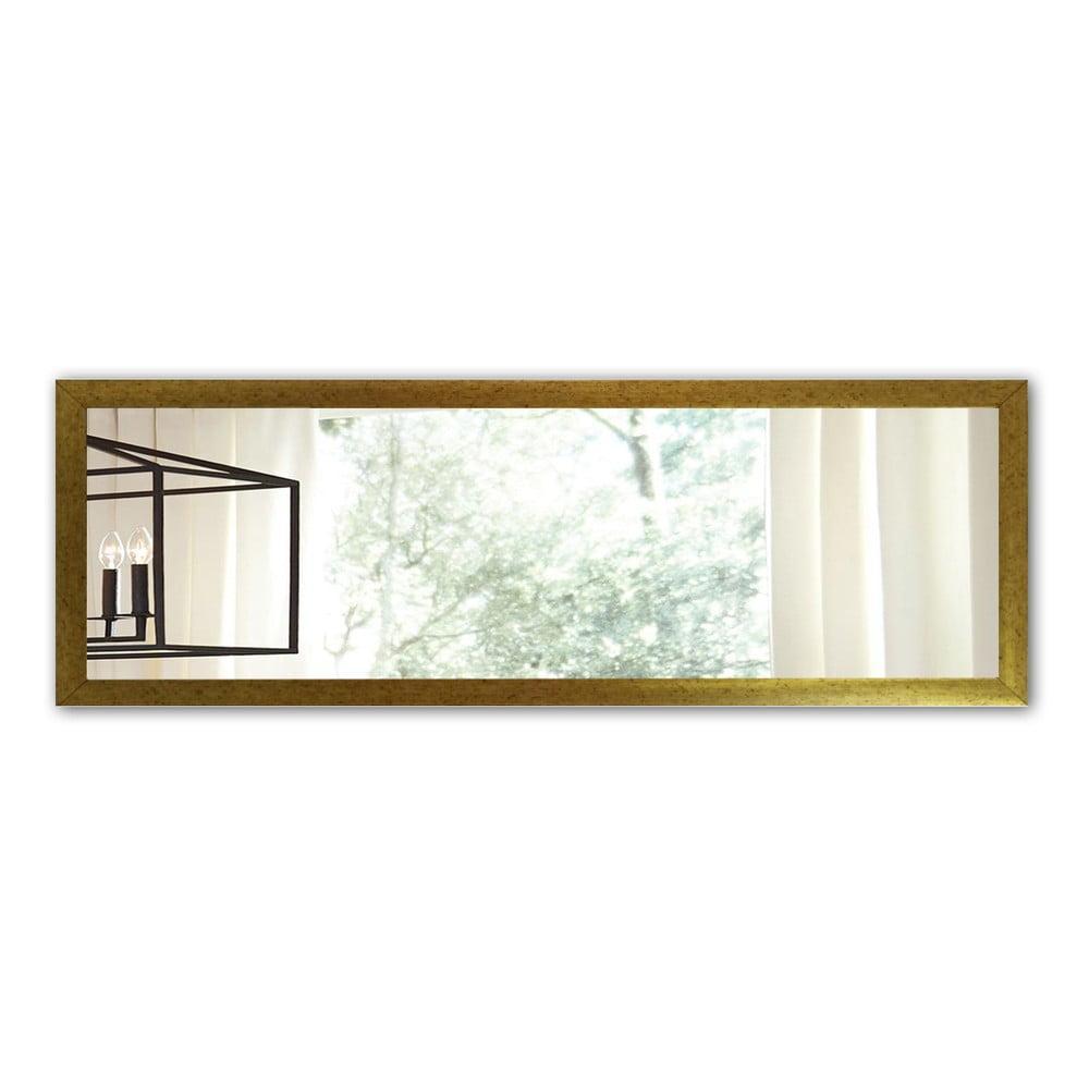 Nástenné zrkadlo s rámom v zlatej farbe Oyo Concept, 105 x 40 cm