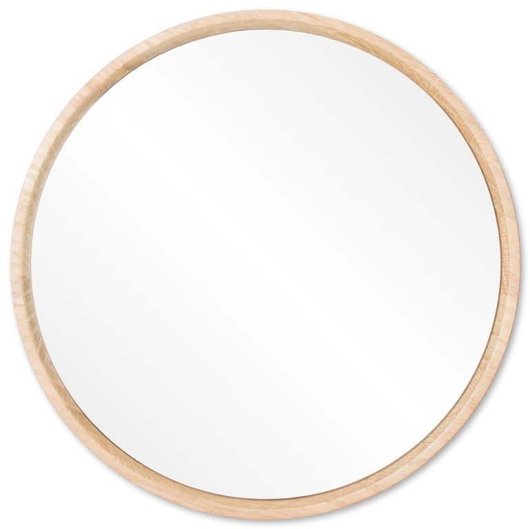 Nástenné zrkadlo s rámom z masívneho dubového dreva Gazzda Look, ⌀ 22 cm