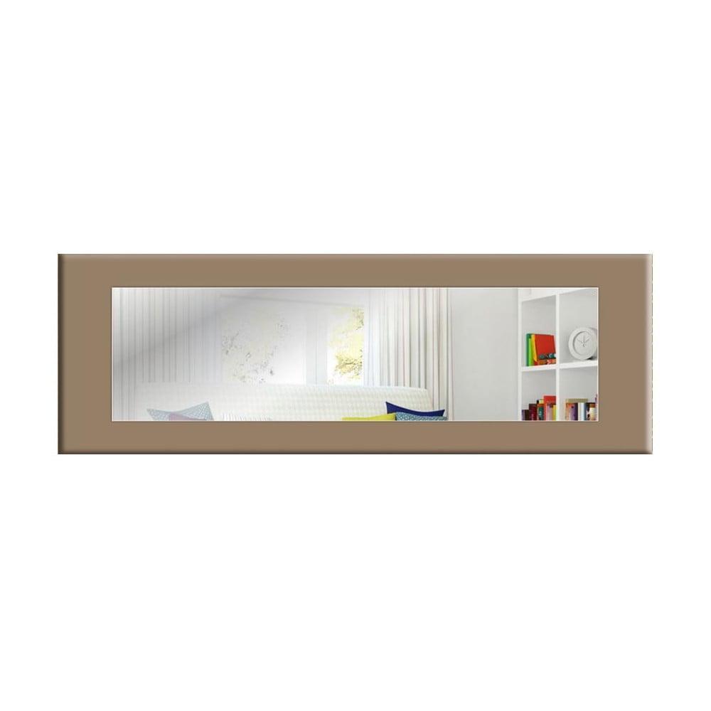 Nástenné zrkadlo so sivohnedým rámom Oyo Concept Eve, 120 x 40 cm