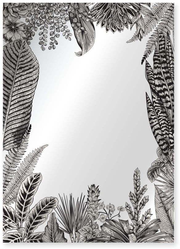 Nástenné zrkadlo Surdic Espejo Decorado Kentia, 50 x 70 cm