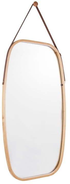 Nástenné zrkadlo v bambusovom ráme PT LIVING Idylic, dĺžka 74 cm